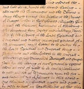 Bill of Rights 1688